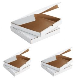 WHITE Plain Pizza Boxes